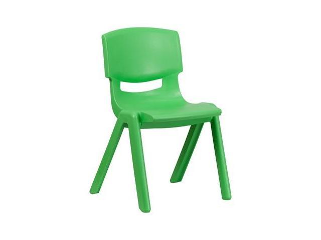 Flash Furniture Green Plastic Stackable School Chair with 15.5'' Seat Height [YU-YCX-005-GREEN-GG]