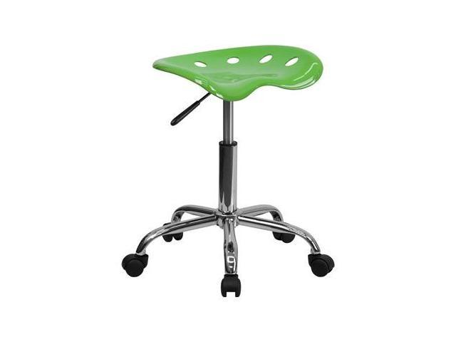 Flash Furniture Vibrant Spicy Lime Tractor Seat and Chrome Stool [LF-214A-SPICYLIME-GG]