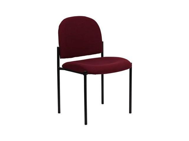 Flash Furniture Burgundy Fabric Comfortable Stackable Steel Side Chair [BT-515-1-BY-GG]