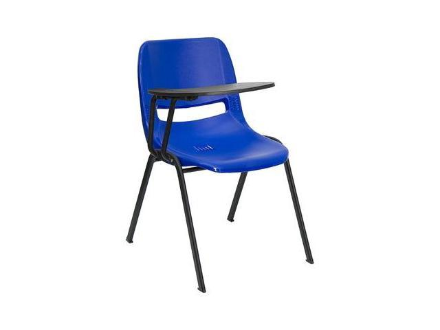 Flash Furniture Blue Ergonomic Shell Chair with Right Handed Tablet Arm [RUT-EO1-BL-RTAB-GG]