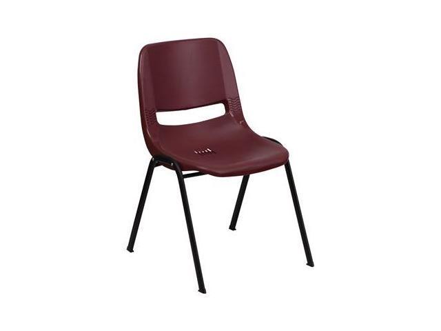 Flash Furniture HERCULES Series 880 lb. Capacity Burgundy Ergonomic Shell Stack Chair [RUT-EO1-BY-GG]