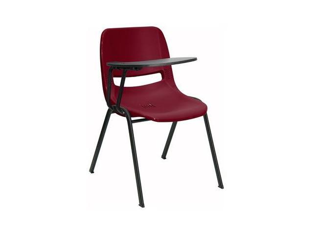 Flash Furniture Burgundy Ergonomic Shell Chair with Right Handed Tablet Arm [RUT-EO1-BY-RTAB-GG]