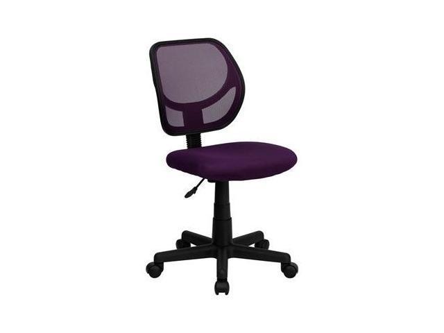 Flash Furniture Mid-Back Purple Mesh Task Chair and Computer Chair [WA-3074-PUR-GG]