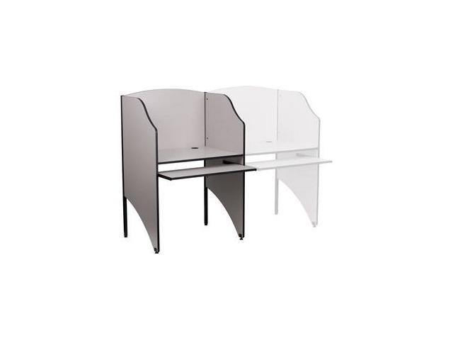 Flash Furniture Starter Study Carrel in Nebula Grey Finish [MT-M6201-GY-GG]