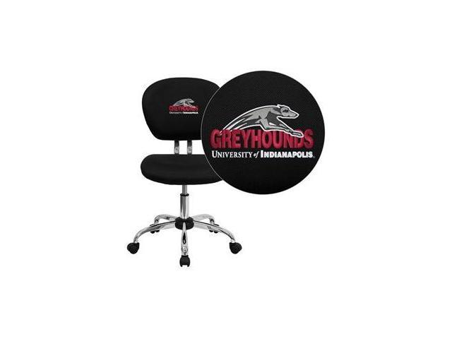 Flash Furniture Indianapolis Greyhounds Embroidered Black Mesh Task Chair with Chrome Base [H-2376-F-BK-41083-EMB-GG]