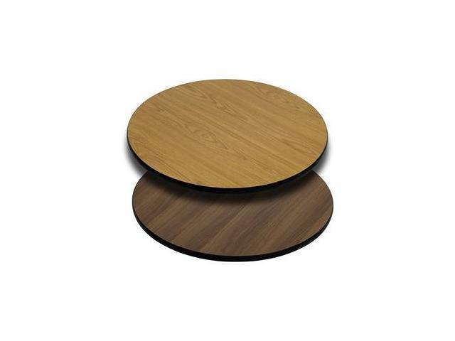 Flash Furniture 24'' Round Table Top with Natural or Walnut Reversible Laminate Top [XU-RD-24-WNT-GG]