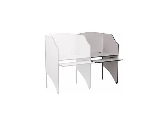 Flash Furniture Add-On Study Carrel in Nebula Grey Finish [MT-M6202-GY-ADD-GG]