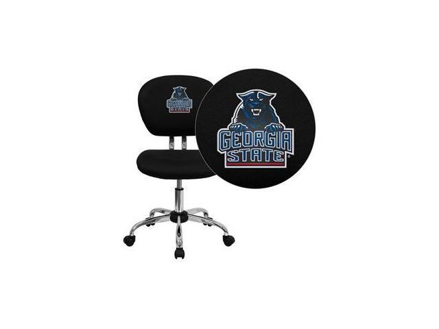 Flash Furniture Georgia State University Panthers Embroidered Black Mesh Task Chair with Chrome Base [H-2376-F-BK-40013-EMB-GG]