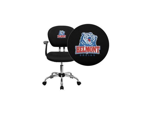 Flash Furniture Belmont University Bruins Embroidered Black Mesh Task Chair with Arms and Chrome Base [H-2376-F-BK-ARMS-41004-EMB-GG]
