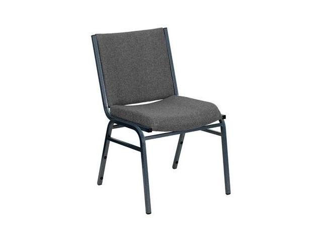 Flash Furniture HERCULES Series Heavy Duty, 3'' Thickly Padded, Gray Upholstered Stack Chair [XU-60153-GY-GG]