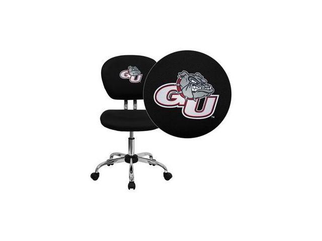 Flash Furniture Gonzaga University Bulldogs Embroidered Black Mesh Task Chair with Chrome Base [H-2376-F-BK-40014-EMB-GG]