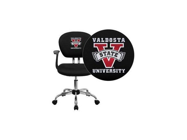 Flash Furniture Valdosta State University Blazers Embroidered Black Mesh Task Chair with Arms and Chrome Base [H-2376-F-BK-ARMS-41108-EMB-GG]