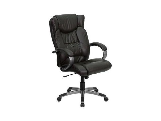 Flash Furniture High Back Espresso Brown Leather Executive Office Chair [BT-9088-BRN-GG]