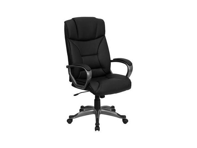 Flash Furniture High Back Black Leather Executive Office Chair [BT-9177-BK-GG]