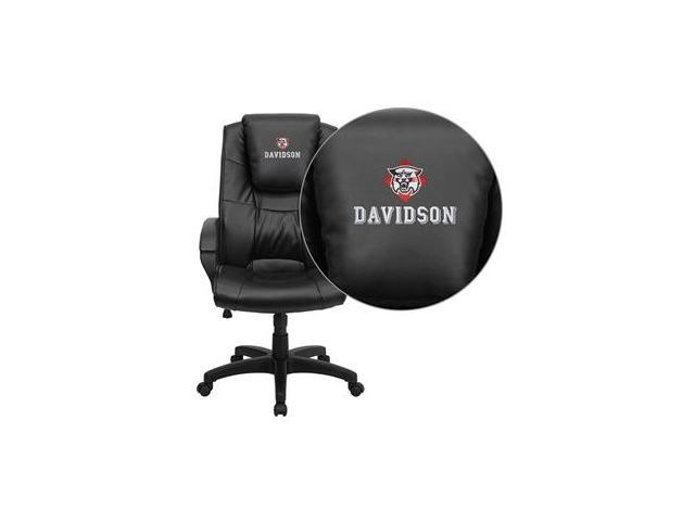 Flash Furniture Davidson College Wildcats Embroidered Black Leather Executive Office Chair [GO-5301BSPEC-BK-LEA-45008-EMB-GG]