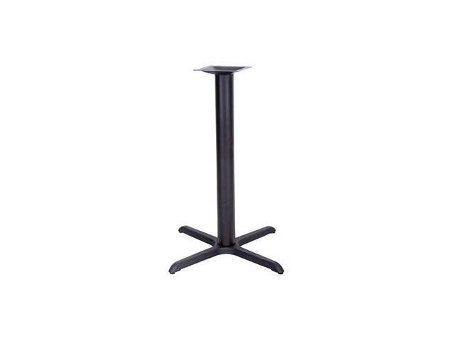 Flash Furniture 33'' x 33'' Restaurant Table X-Base with 4'' Bar Height Column [XU-T3333-BAR-GG]
