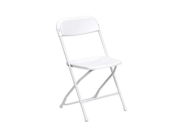 Flash Furniture HERCULES Series 800 lb. Capacity Premium White Plastic Folding Chair [LE-L-3-WHITE-GG]