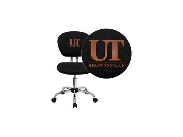 Flash Furniture Texas at Brownsville Scorpions Embroidered Black Mesh Task Chair with Chrome Base [H-2376-F-BK-41098-EMB-GG]