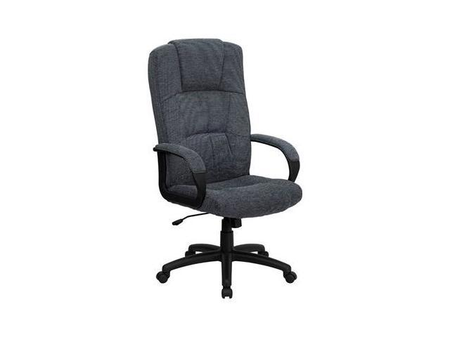 Flash Furniture High Back Gray Fabric Executive Office Chair [BT-9022-BK-GG]