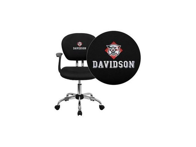 Flash Furniture Davidson College Wildcats Embroidered Black Mesh Task Chair with Arms and Chrome Base [H-2376-F-BK-ARMS-45008-EMB-GG]