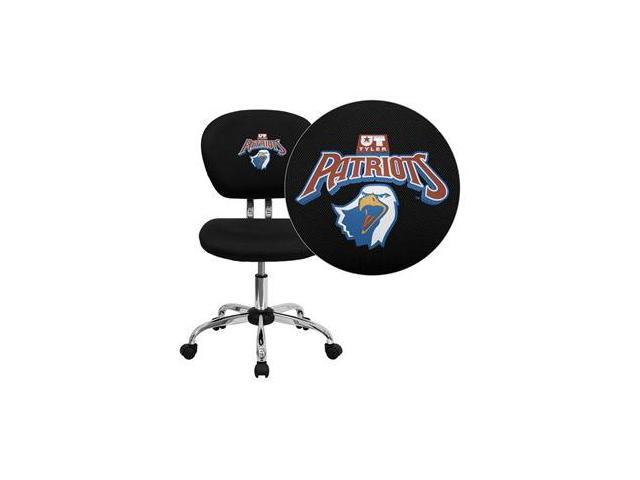 Flash Furniture Texas at Tyler Patriots Embroidered Black Mesh Task Chair with Chrome Base [H-2376-F-BK-41103-EMB-GG]