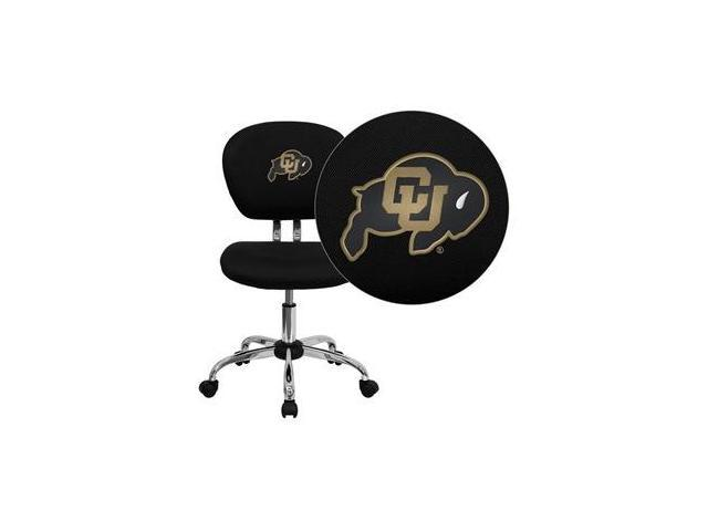 Flash Furniture Colorado Buffaloes Embroidered Black Mesh Task Chair with Chrome Base [H-2376-F-BK-40030-EMB-GG]