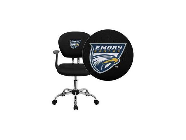 Flash Furniture Emory University Eagles Embroidered Black Mesh Task Chair with Arms and Chrome Base [H-2376-F-BK-ARMS-45010-EMB-GG]