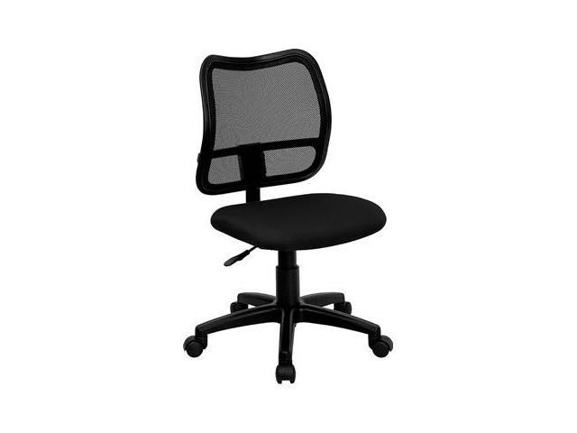 Flash Furniture Mid-Back Mesh Task Chair with Black Fabric Seat [WL-A277-BK-GG]