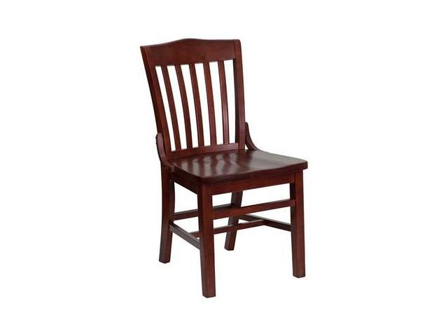 Flash Furniture HERCULES Series Mahogany Finished School House Back Wooden Restaurant Chair [XU-DG-W0006-MAH-GG]