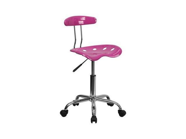 Flash Furniture Vibrant Candy Heart and Chrome Computer Task Chair with Tractor Seat [LF-214-CANDYHEART-GG]