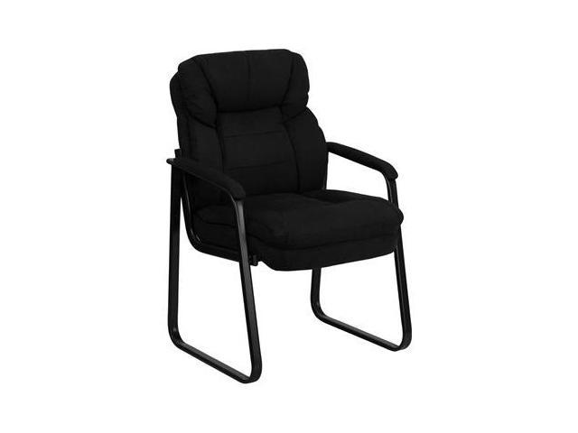 Flash Furniture Black Microfiber Executive Side Chair with Sled Base [GO-1156-BK-GG]
