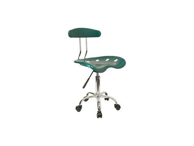 Flash Furniture Vibrant Green and Chrome Computer Task Chair with Tractor Seat [LF-214-GREEN-GG]