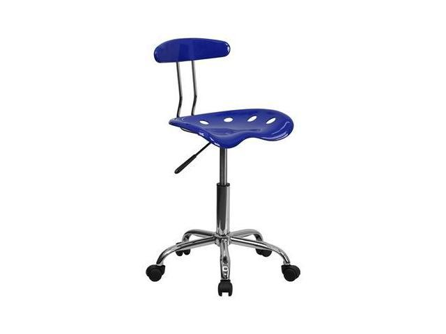 Flash Furniture Vibrant Nautical Blue and Chrome Computer Task Chair with Tractor Seat [LF-214-NAUTICALBLUE-GG]