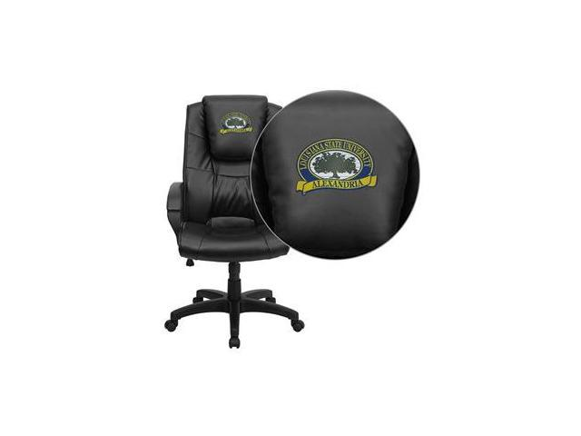 Flash Furniture LSU Alexandria Generals Embroidered Black Leather Executive Office Chair [GO-5301BSPEC-BK-LEA-41049-EMB-GG]
