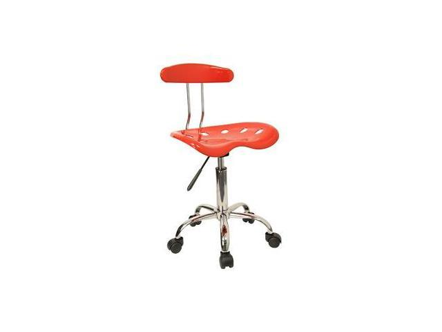 Flash Furniture Vibrant Red and Chrome Computer Task Chair with Tractor Seat [LF-214-RED-GG]