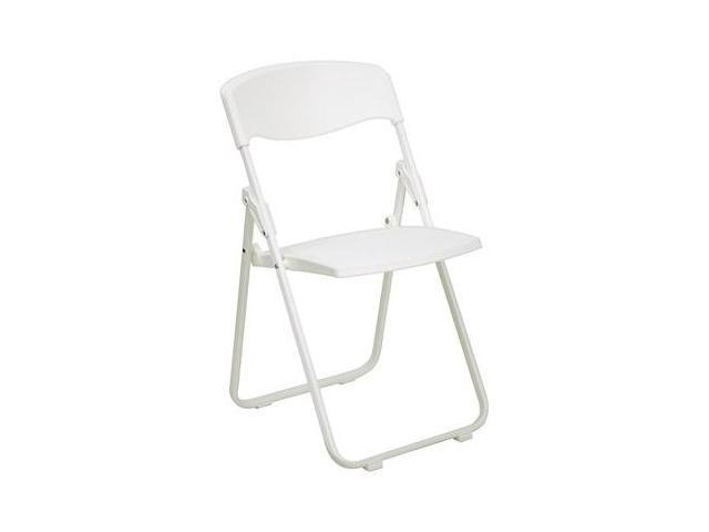 Flash Furniture HERCULES Series 880 lb. Capacity Heavy Duty White Plastic Folding Chair [RUT-I-WHITE-GG]