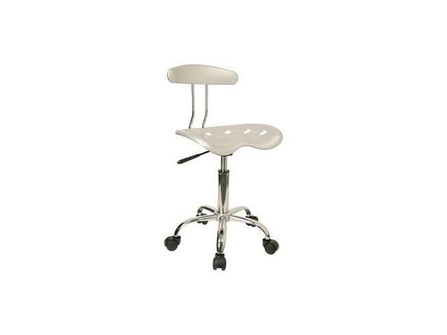 Flash Furniture Vibrant Silver and Chrome Computer Task Chair with Tractor Seat [LF-214-SILVER-GG] - OEM