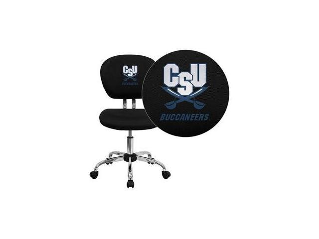 Flash Furniture Charleston Southern University Buccaneers Embroidered Black Mesh Task Chair with Chrome Base [H-2376-F-BK-45006-EMB-GG]