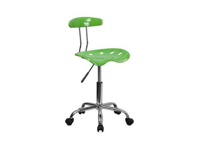 Flash Furniture Vibrant Spicy Lime and Chrome Computer Task Chair with Tractor Seat [LF-214-SPICYLIME-GG]