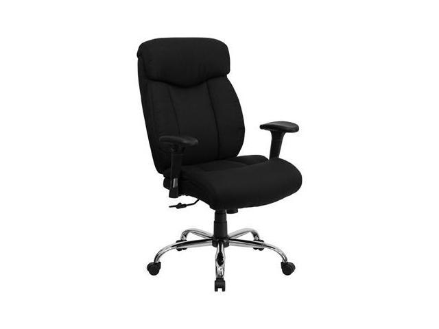 Flash Furniture HERCULES Series 350 lb. Capacity Big & Tall Black Fabric Office Chair with Arms [GO-1235-BK-FAB-A-GG]