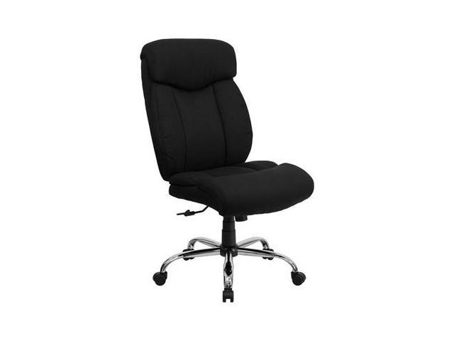 Flash Furniture HERCULES Series 350 lb. Capacity Big & Tall Black Fabric Office Chair [GO-1235-BK-FAB-GG]