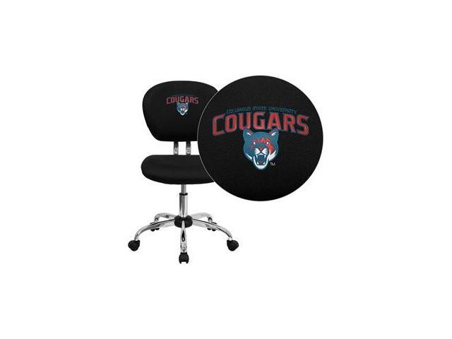 Flash Furniture Columbus State University Cougars Embroidered Black Mesh Task Chair with Chrome Base [H-2376-F-BK-41022-EMB-GG]