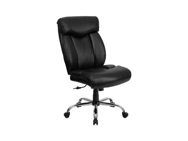 350 lb capacity big tall black leather office chair go 1235 bk lea
