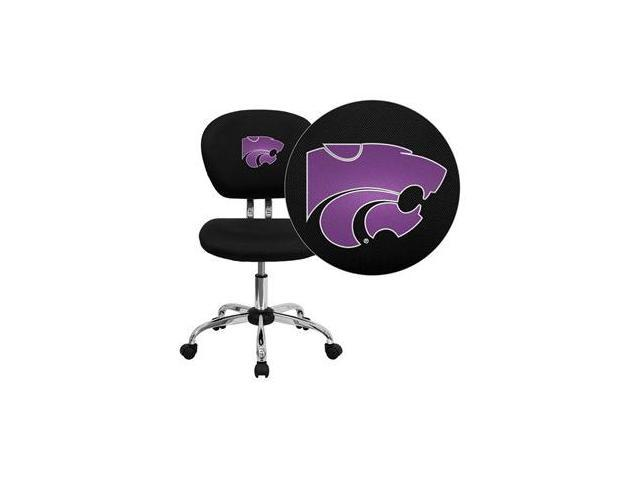Flash Furniture Kansas State University Wildcats Embroidered Black Mesh Task Chair with Chrome Base [H-2376-F-BK-45013-EMB-GG]