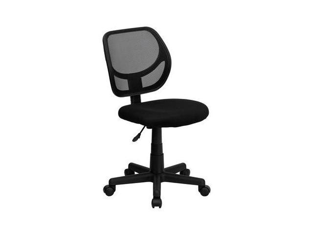Flash Furniture Mid-Back Black Mesh Task Chair and Computer Chair [WA-3074-BK-GG]