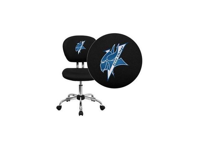 Flash Furniture Elizabeth City State University Vikings Embroidered Black Mesh Task Chair with Chrome Base [H-2376-F-BK-41028-EMB-GG]