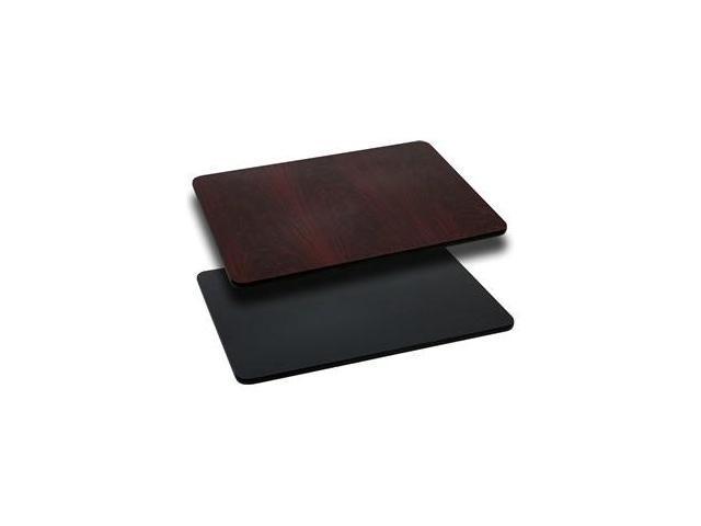 Flash Furniture 24'' x 30'' Rectangular Table Top with Black or Mahogany Reversible Laminate Top [XU-MBT-2430-GG]