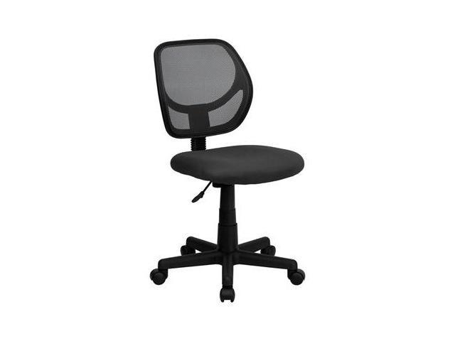 Flash Furniture Mid-Back Gray Mesh Task Chair and Computer Chair [WA-3074-GY-GG]