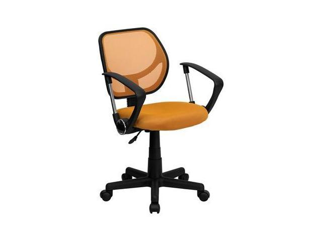 Flash Furniture Mid-Back Orange Mesh Task Chair and Computer Chair with Arms [WA-3074-OR-A-GG]