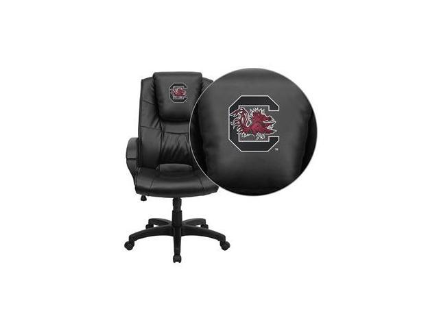 Flash Furniture South Carolina Gamecocks Embroidered Black Leather Executive Office Chair [GO-5301BSPEC-BK-LEA-40008-EMB-GG]